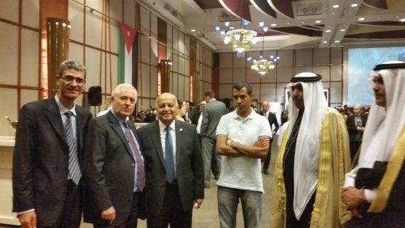Ambassadors' Club President at the Jordanian National Day Reception