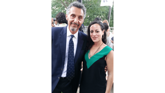 Actor John Turturro and Reut Portugal, Ambassadors' Club Representative in Jerusalem