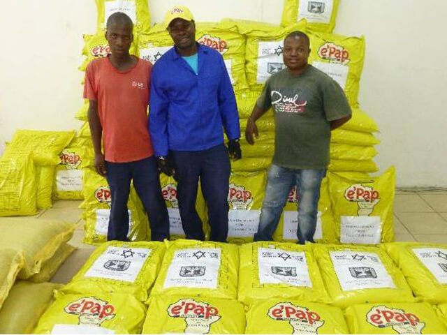 Shipment containing over 100,000 rations ready to leave South Africa on its way to Madagascar