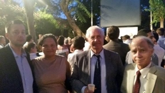 The Ambassador of Paraguay, The Ambassadors' Club president and Costa Rica Charge' d'Affaires and her husband at the French National Reception