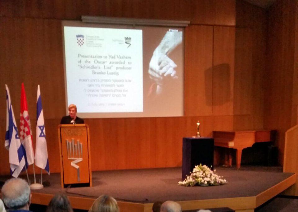 The Ambassadors' Club President and with President of Croatia at Yad Vashem