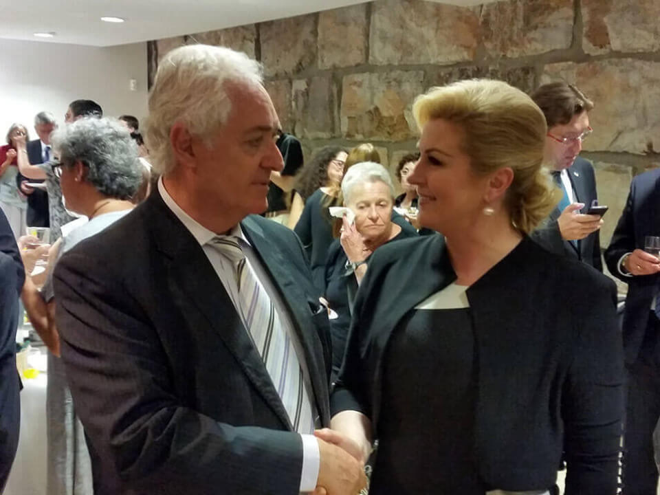 The Ambassadors' Club President and with President of Croatia at Yad Vashem