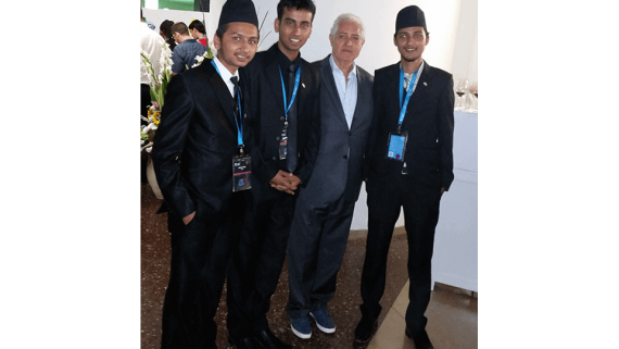 With the delegation of young scientists from Nepal